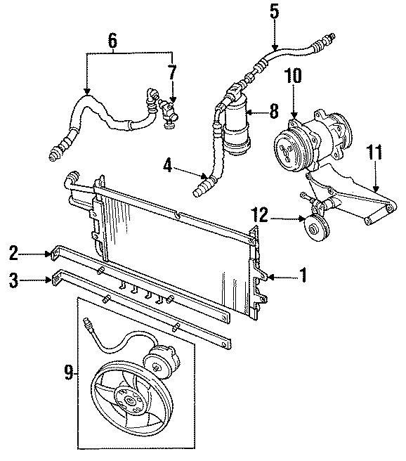 1994 land rover defender 90 a  c compressor