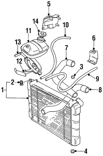 1995 land rover defender 90 engine coolant reservoir grommet  lower   radiator  tank  components