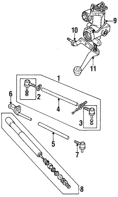 1995 Land Rover Defender 90 Rod  End  Tube  Track  Tie  Cap Assembly  Steering Adjusting Sleeve