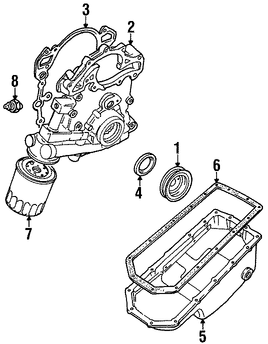 1999 Land Rover Discovery Cylinder Block  Engine Oil Pan Gasket  3 9 Liter  4 0 Liter