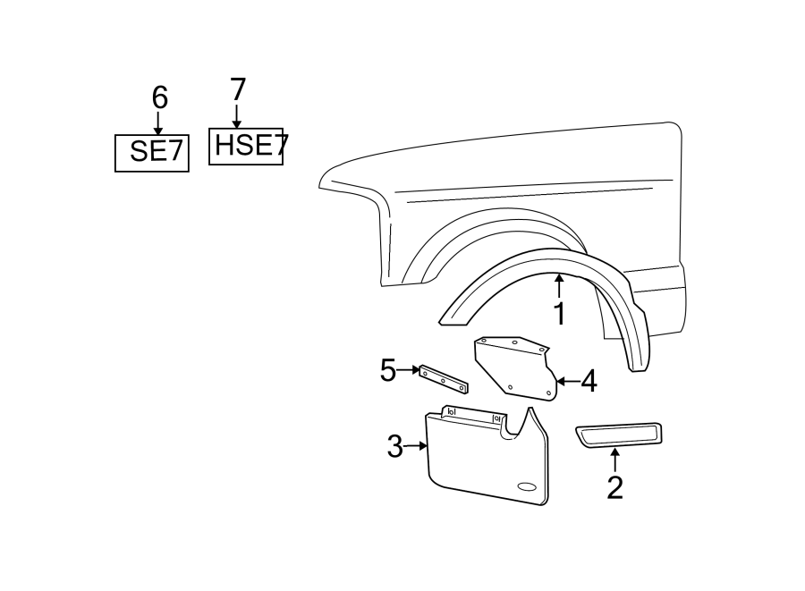 2004 land rover discovery fender molding  rear