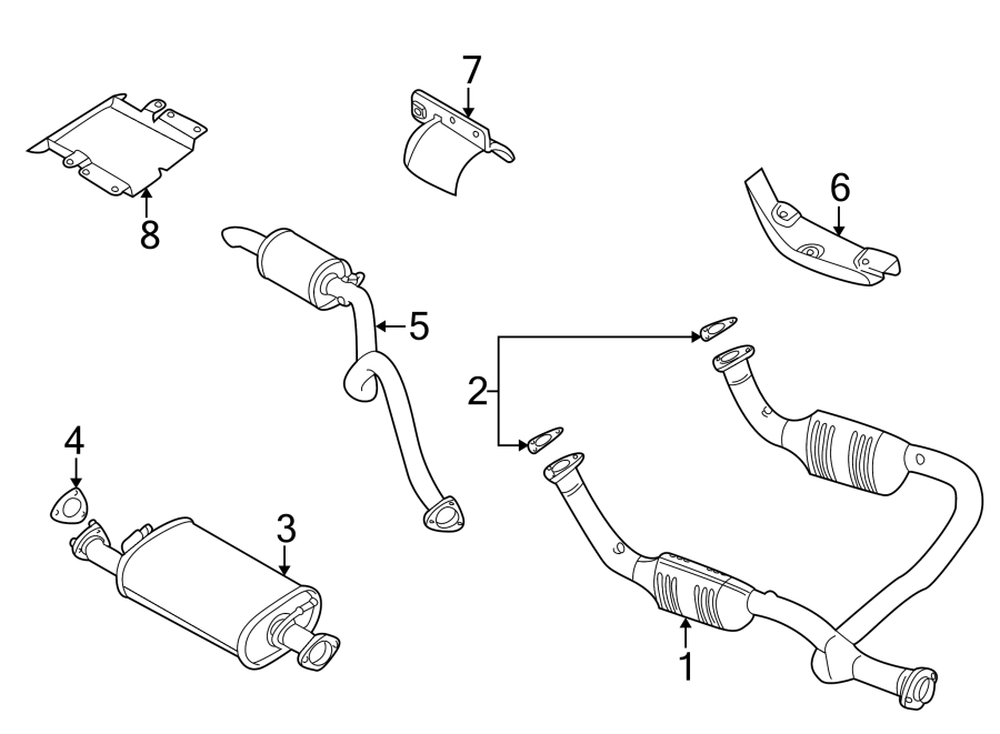 2000 land rover discovery catalytic converter  front