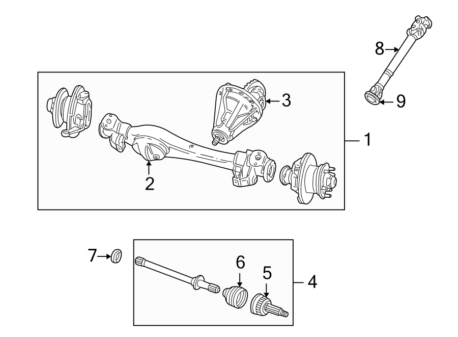 2003 Land Rover Discovery Axle   Front   Transmission