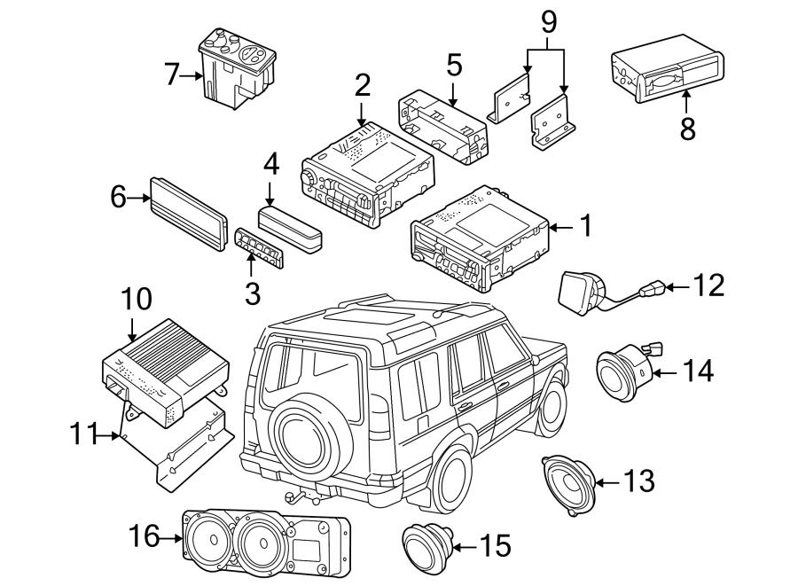1999 land rover discovery power amplifier mount bracket  radio amplifier bracket