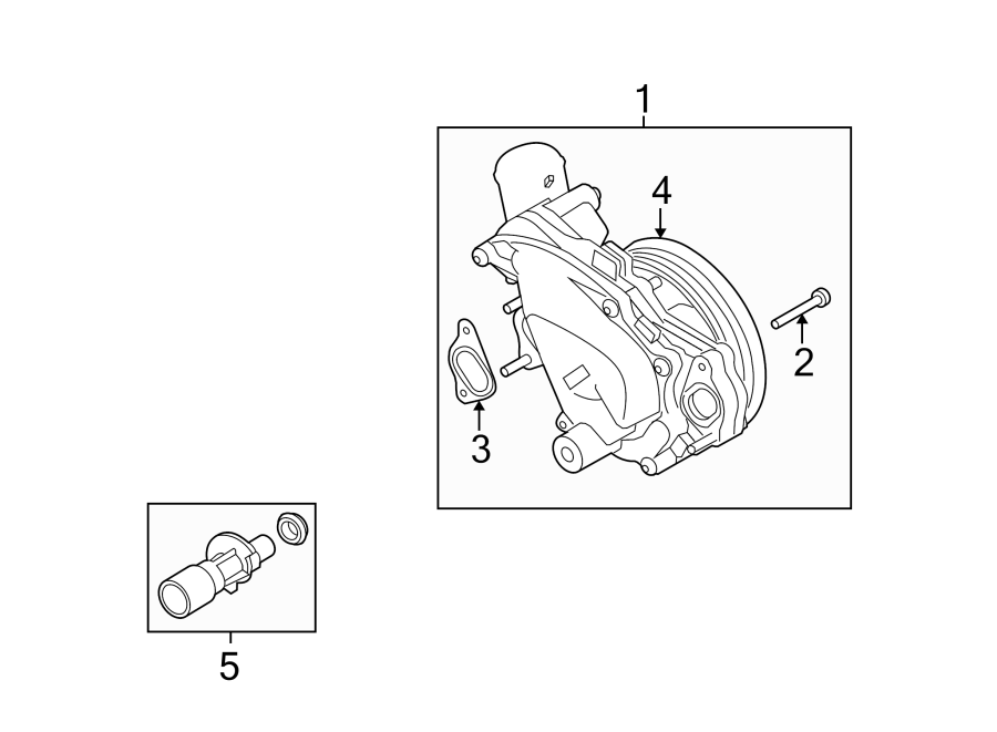 2012 land rover range rover water  bolt  pump  screw