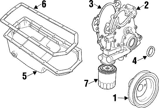 1997 Land Rover Defender 90 Engine Oil Pan Gasket  Gasket  Oil  Pan  Cylinder Block  Engine  3 9