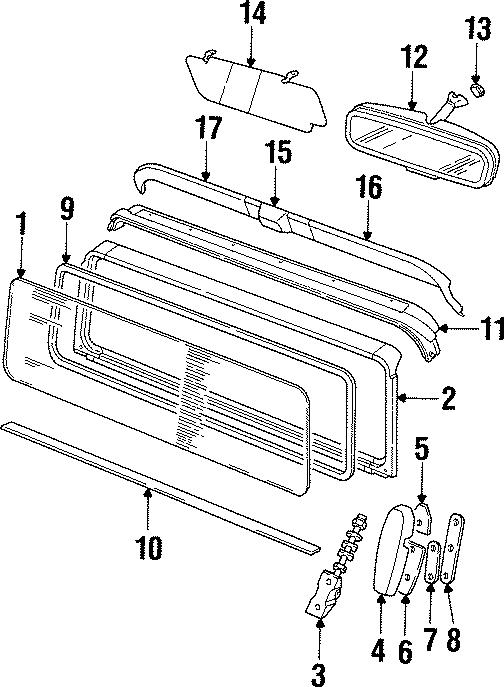 1997 land rover defender 90 sunshade  sunvisor  soft top