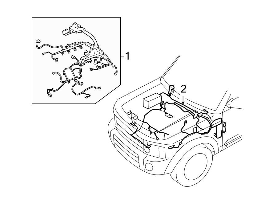 2008 Land Rover Lr3 Engine Wiring Harness  4 4 Liter  Wire  Telematics  Lighting  Electrical