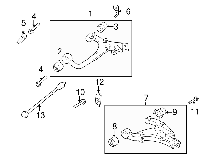 2009 Land Rover Lr3 Suspension Control Arm Nut  Upper