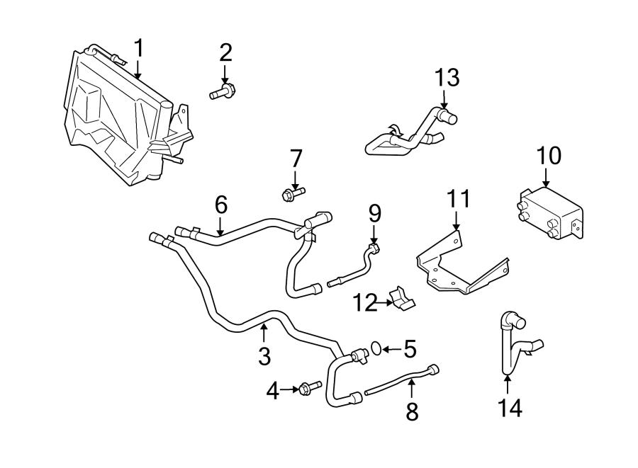 2009 Land Rover Range Rover Sport Engine Oil Cooler Line