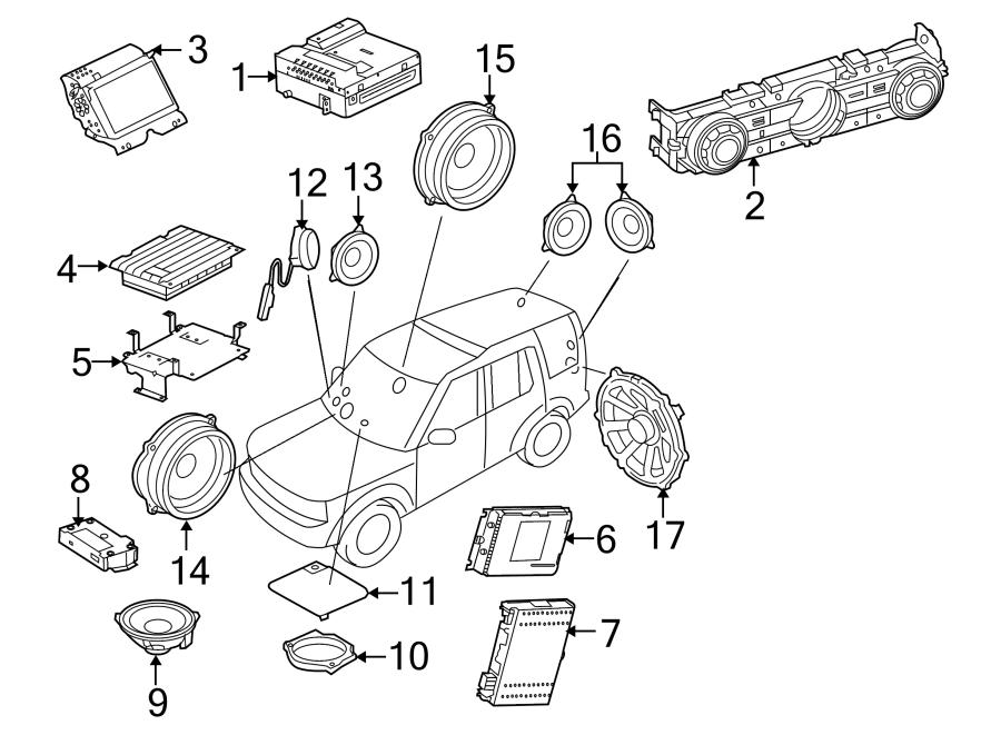 2010 land rover range rover sport control  radio  panel  2010 premium audio  co  knob