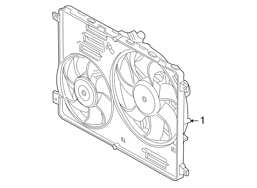 land rover lr2 engine cooling fan assembly