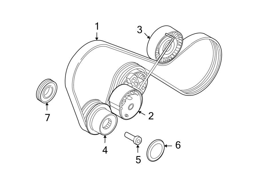 2008 land rover lr2 accessory drive belt tensioner. Black Bedroom Furniture Sets. Home Design Ideas