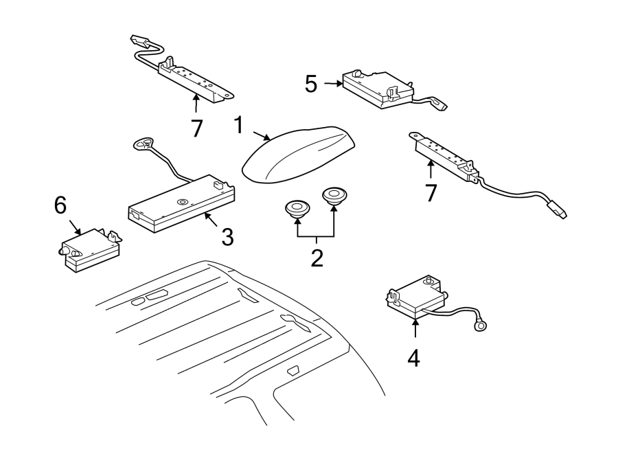 2012 land rover lr2 amplifier radiator antenna. Black Bedroom Furniture Sets. Home Design Ideas