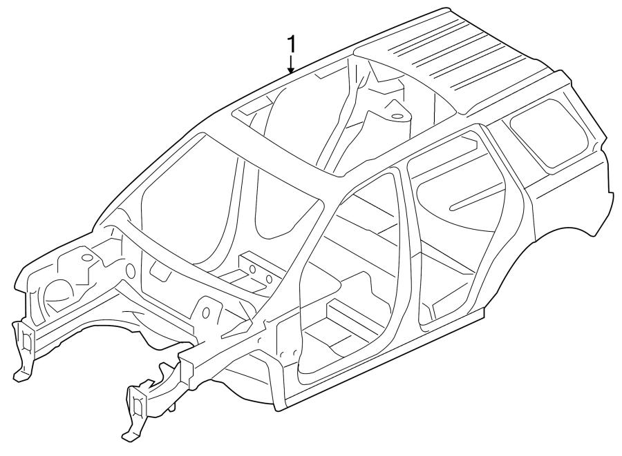 2008 land rover lr2 body assembly bodyshell less. Black Bedroom Furniture Sets. Home Design Ideas