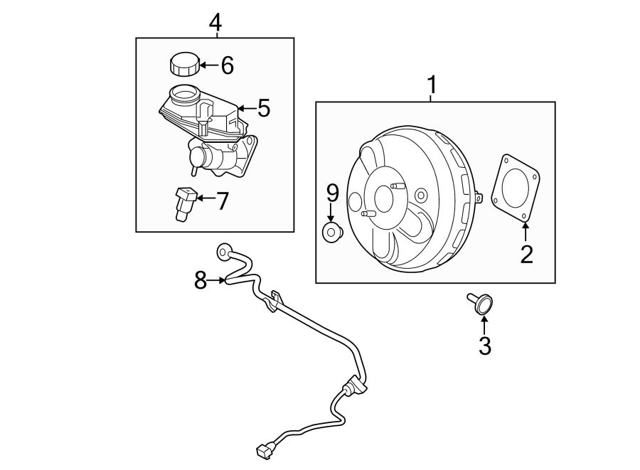 2008 land rover lr2 grommet booster power brake master. Black Bedroom Furniture Sets. Home Design Ideas