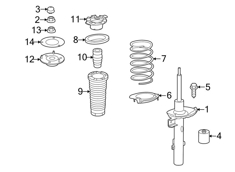 2008 land rover lr2 bolt hex head coil spring damper. Black Bedroom Furniture Sets. Home Design Ideas