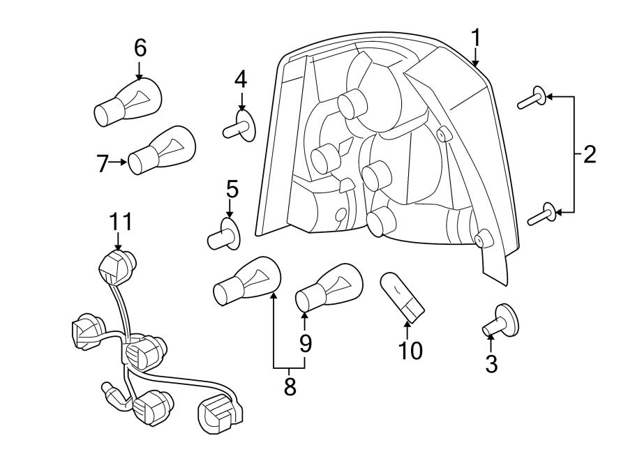 2009 land rover lr2 tail light harness rear lamps. Black Bedroom Furniture Sets. Home Design Ideas