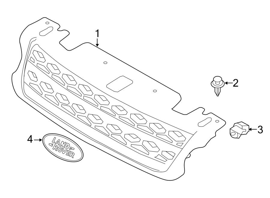 2015 land rover range rover sport grille  front  w  o svr