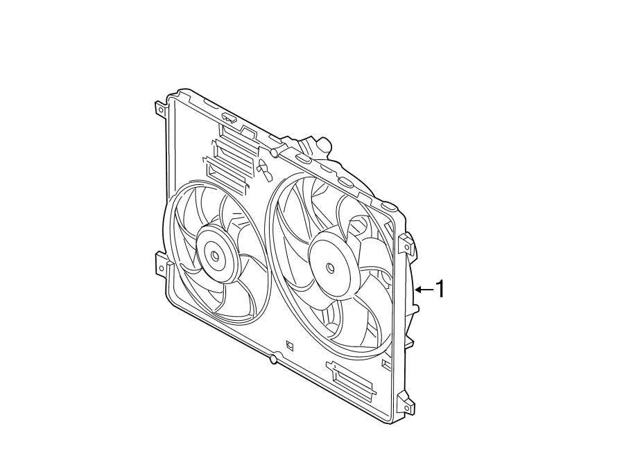2015 Land Rover Range Rover Evoque Engine Cooling Fan