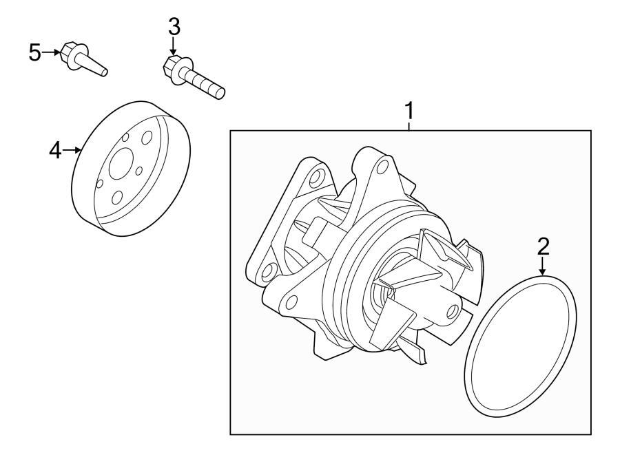 2012 Land Rover Range Rover Evoque Engine Water Pump Pulley  2 0 Liter  2012