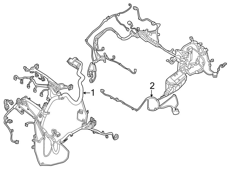 2015 Land Rover Range Rover Evoque Engine Wiring Harness