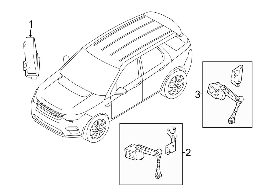 2017 Land Rover Discovery Sport Headlight Level Sensor  Front