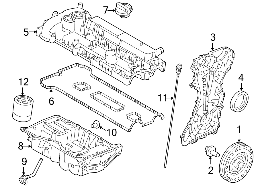 2017 Land Rover Discovery Sport Engine Valve Cover  2 0