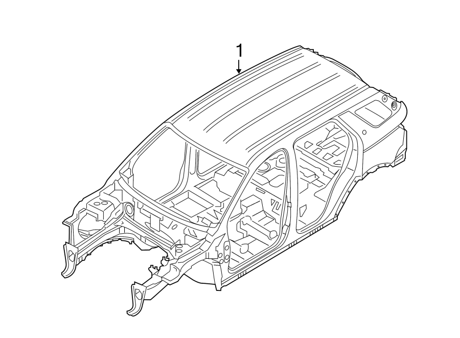 2015 land rover discovery sport vehicle body shell  w