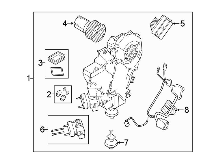2018 land rover discovery sport hvac unit case assembly