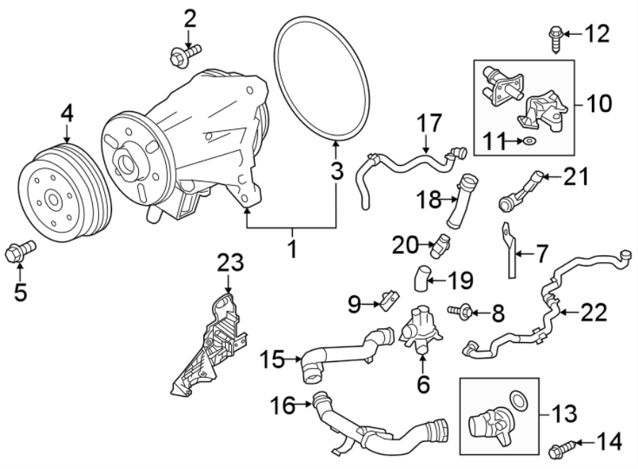 2017 Land Rover Discovery Engine Water Pump