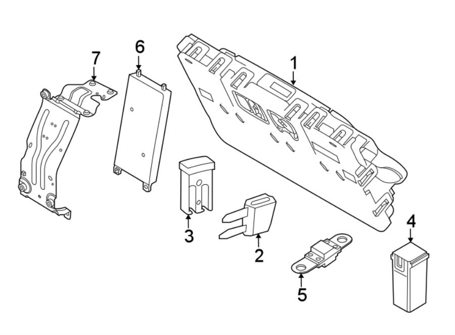2017 land rover discovery fuse  air bag clockspring  circuit breaker  maxi