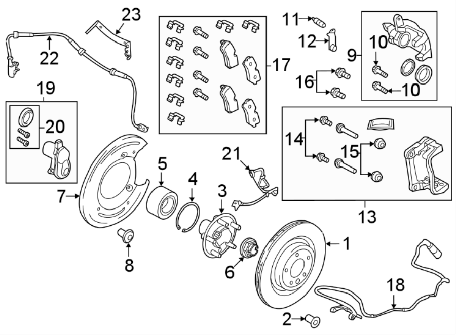2018 land rover discovery disc brake pad set  rear