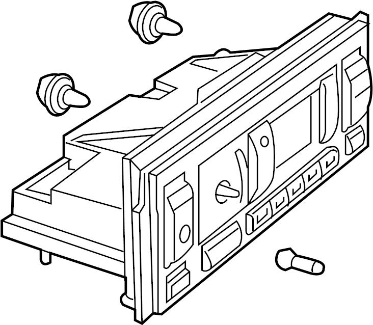 1997 land rover range rover hvac temperature control panel  auto control  w  heated seats  to