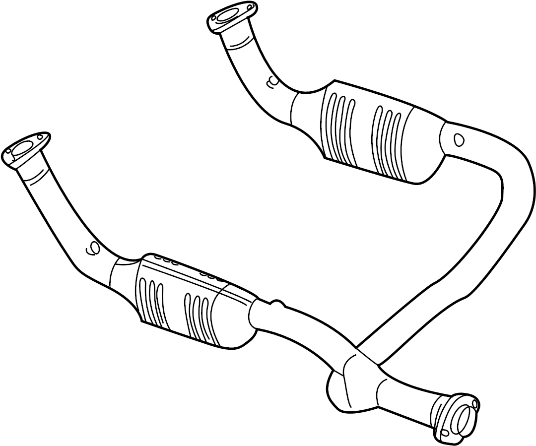 2002 land rover discovery catalytic converter  front