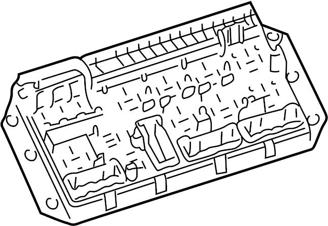 2005 land rover range rover fuse box  instrument panel  2003-09  rear