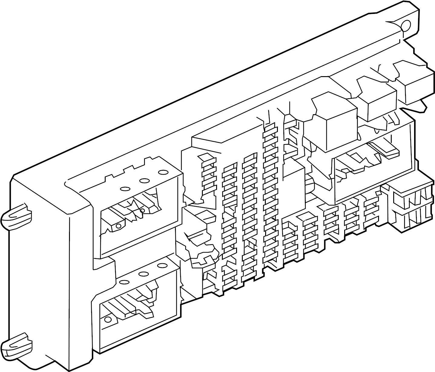 2012 Land Rover Range Rover Fuse Box  Instrument Panel