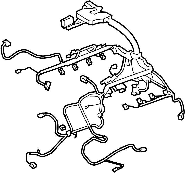 2010 Land Rover Range Rover Sport Engine Wiring Harness  5