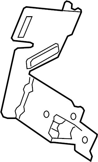 2016 Land Rover Range Rover Evoque Bracket  Fuse  Box  Relay  Instrument Panel  Instrument Panel
