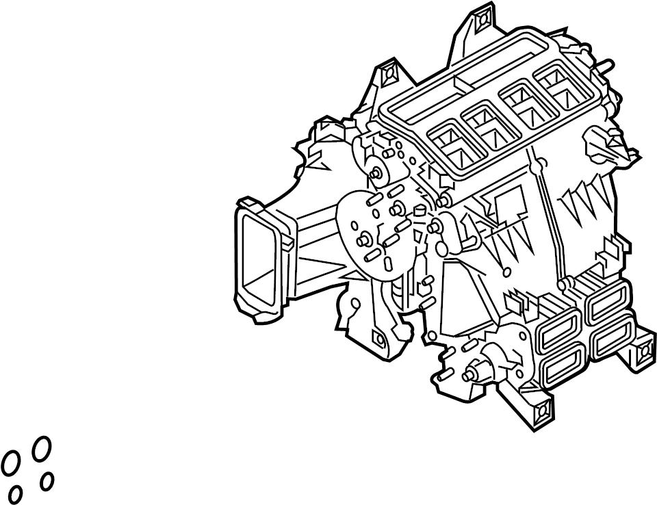2015 land rover range rover sport hvac unit case assembly  ac and heater assembly  hvac unit