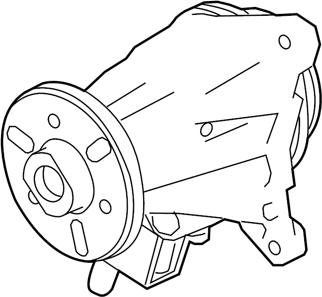 2017 Land Rover Discovery Engine Water Pump. Water Pump