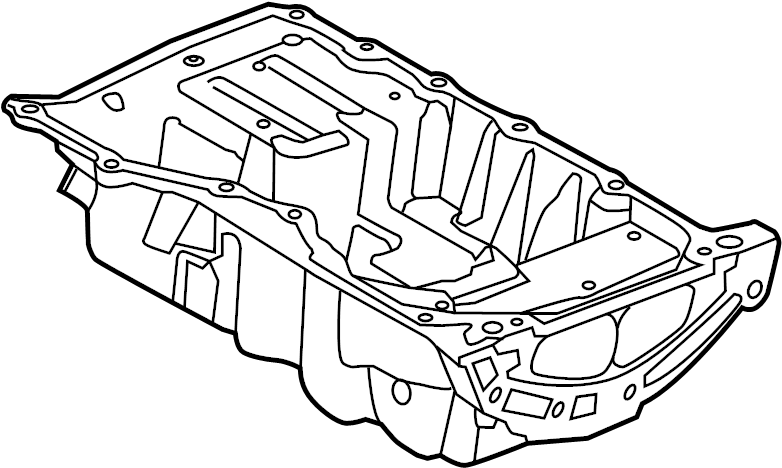 2014 land rover range rover evoque engine oil pan  pan
