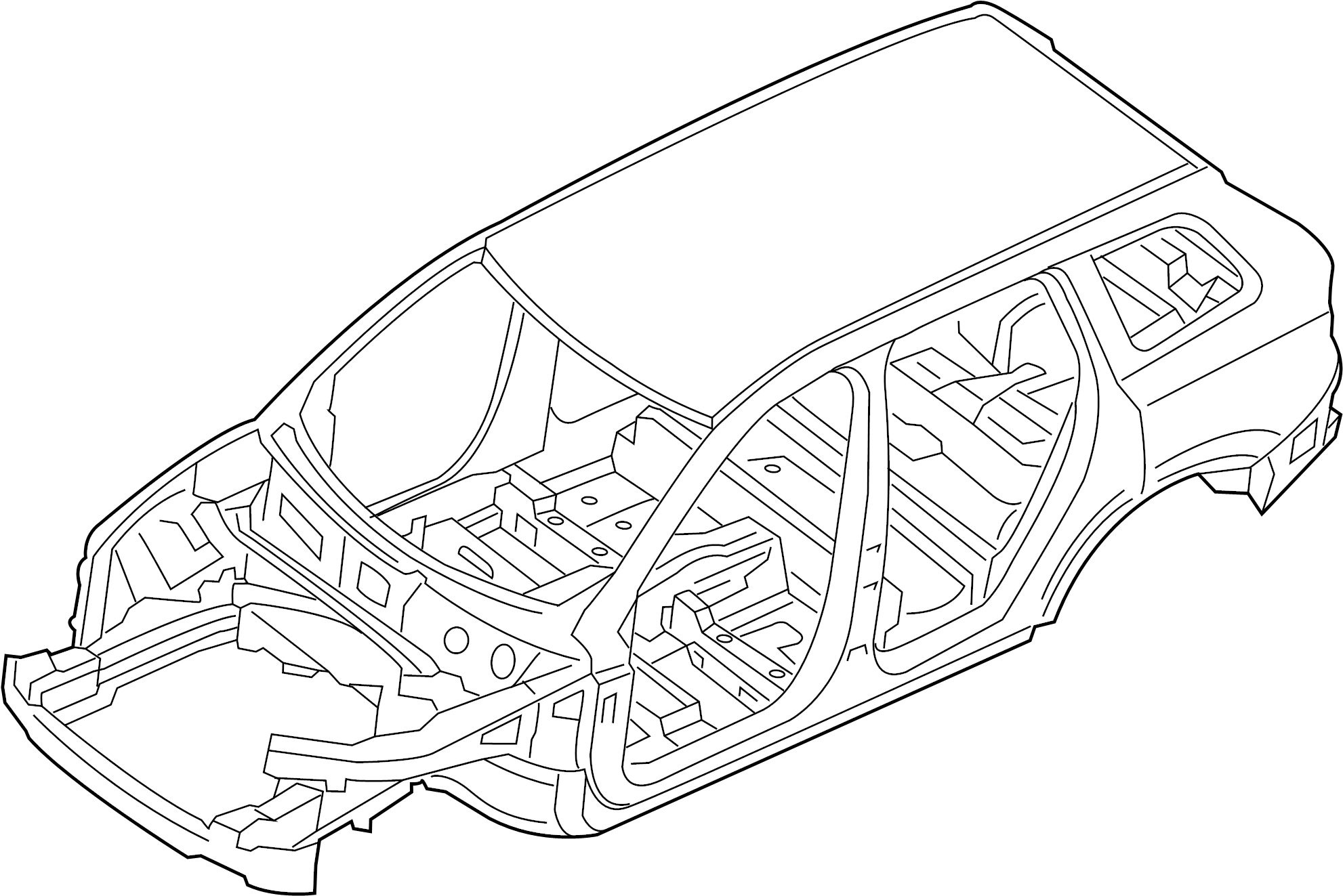 2019 land rover discovery sport vehicle body shell  w